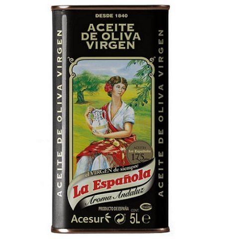 ACEITE LA ESPAÑOLA OLIVA VIRGEN LATA 5L